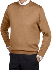 Merino Wool Blend Crew Neck Sweater