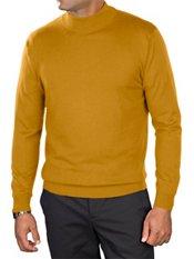 Silk, Cotton, & Cashmere Mock Neck Sweater