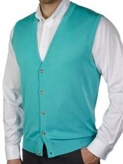 Pima Cotton Cardigan Sweater Vest