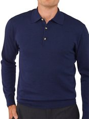 Pima Cotton Polo Collar Sweater