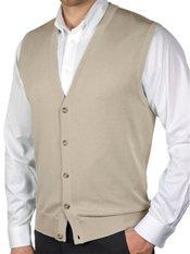 Pima Cotton Button Front Cardigan Sweater Vest