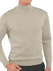 Pima Cotton Mock Neck Sweater