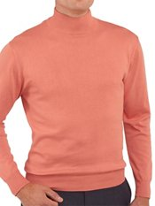 Pima Cotton Mock Neck Sweater