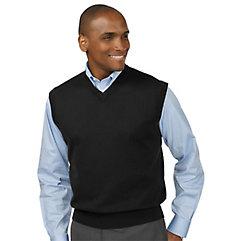 Men's Vintage Inspired Vests Silk Cotton  Cashmere V-neck Sweater Vest $80.00 AT vintagedancer.com
