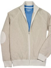 Cotton Full Zip Mock Neck Cardigan Sweater