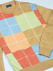 Cotton Colorblock Crew Neck Sweater