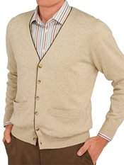 100% Cotton Button Front Cardigan Sweater
