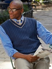 100% Cotton V-Neck Sweater Vest