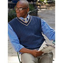 100% Cotton V-Neck Sweater Vest