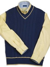 Cotton Cable Pullover Sweater Vest
