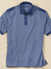 Cotton Stripe Short Sleeve Polo Shirt