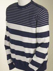 Cotton Stripe Crew Neck Sweater