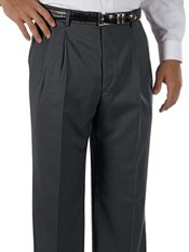 Cuffed 100% Wool Gabardine Pleated Front Pants