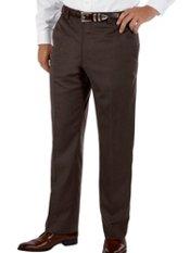 100% Wool Gabardine Flat Front Pants