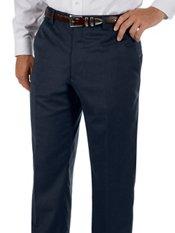 Hemmed 100% Wool Gabardine Flat Front Pants