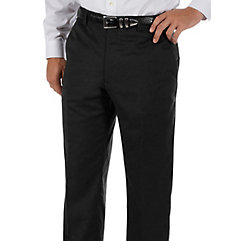 Cuffed 100 Wool Gabardine Flat Front Pants $80.00 AT vintagedancer.com