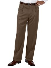 100% Microfiber Solid Pleated Pants