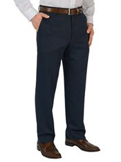100% Microfiber Solid Flat Front Pants