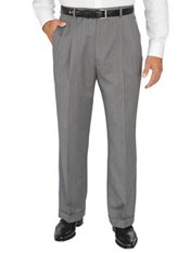 Italian Saia Wool Pleated Front Solid Pants