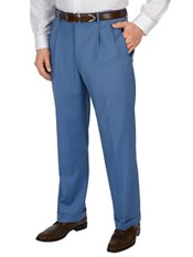 Comfort-Luxe Italian Wool Twill Pleated Front Solid Pants
