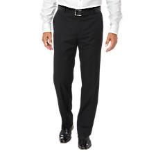 100% Wool Gabardine Flat Front Trim Fit Pants