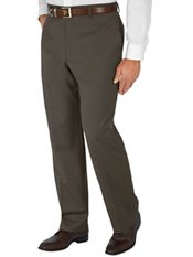 100% Wool Gabardine Flat Front Trim Fit Pants