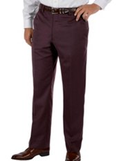 100% Wool Gabardine Wrinkle & Stain Resistant Flat Front Pant