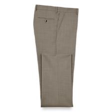 100% Wool Sharkskin Flat Front Pants