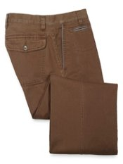 Cotton Twill Flat Front Trousers