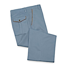 Cotton Twill Flat Front Pants