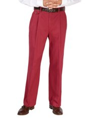 100% Cotton Twill Pleated Pants