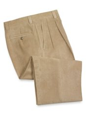 Microfiber Twill Pleated Front Pants