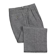 Cotton Denim D-Ring Waist Pleated Front Pants
