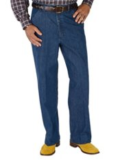 100% Cotton Denim Flat Front Pants