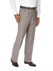 Wool & Silk Flat Front Pants