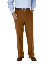 100% Cotton Moleskin Flat Front Pants