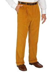 100% Cotton Corduroy Pleated Pants
