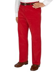 100% Cotton Corduroy Flat Front Pants