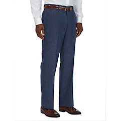 Pure Wool Twill Flat Front Pants $50.00 AT vintagedancer.com
