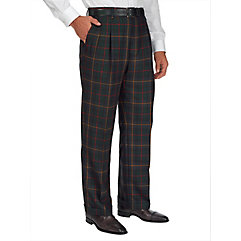 Pure Wool Tartan Plaid Pleated Pants $110.00 AT vintagedancer.com