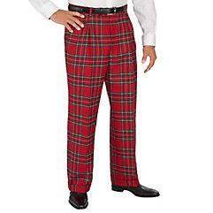 Victorian Men's Pants – Victorian Steampunk Men's Clothing Pure Wool Tartan Pleated Pants $38.00 AT vintagedancer.com