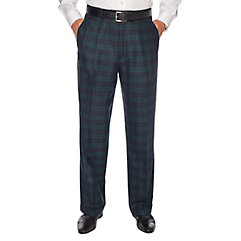 1940s Style Men's Pants and Trousers Pure Wool Tartan Pleated Pants $46.00 AT vintagedancer.com