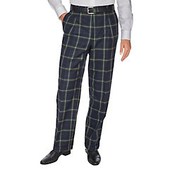 1940s Style Men's Pants and Trousers Pure Wool Tartan Pleated Pants $38.00 AT vintagedancer.com