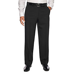 1920s Style Men's Pants & Plus Four Knickers Comfort-Wait Microfiber Flat Front Pants $90.00 AT vintagedancer.com