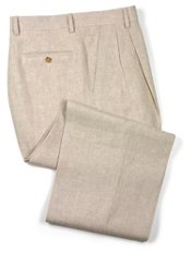 100% Linen Pleated Front Pants