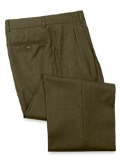 Wool & Cashmere Flannel Pleated Front Pant