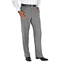 100% Wool Flannel Glen Plaid Flat Front Pants