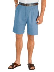 100% Linen Solid Pleated Shorts