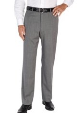 100% Wool Herringbone Flat Front Pants