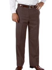 Wool & Cashmere Flat Front Pants